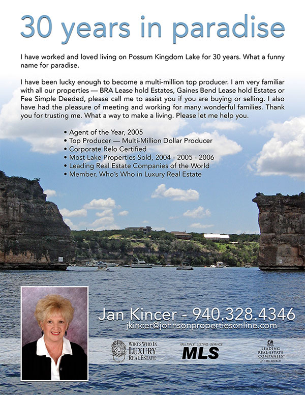 Print ad for Jan Kincer