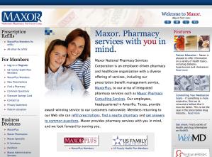 Maxor.com Home Page